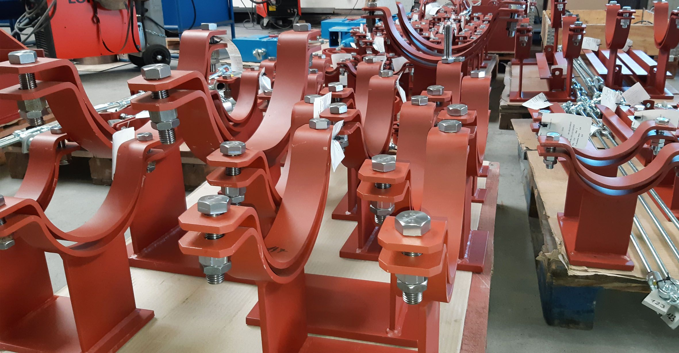 Extraordinary production order of  pipe hangers and supports